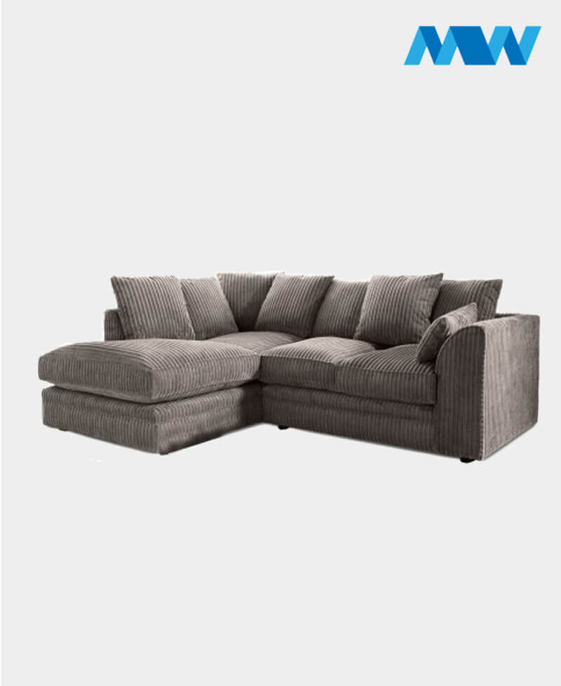 Byron Fabric Corner Sofa left corner grey