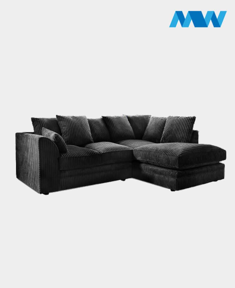 chicago sofa set 005 black rh corner
