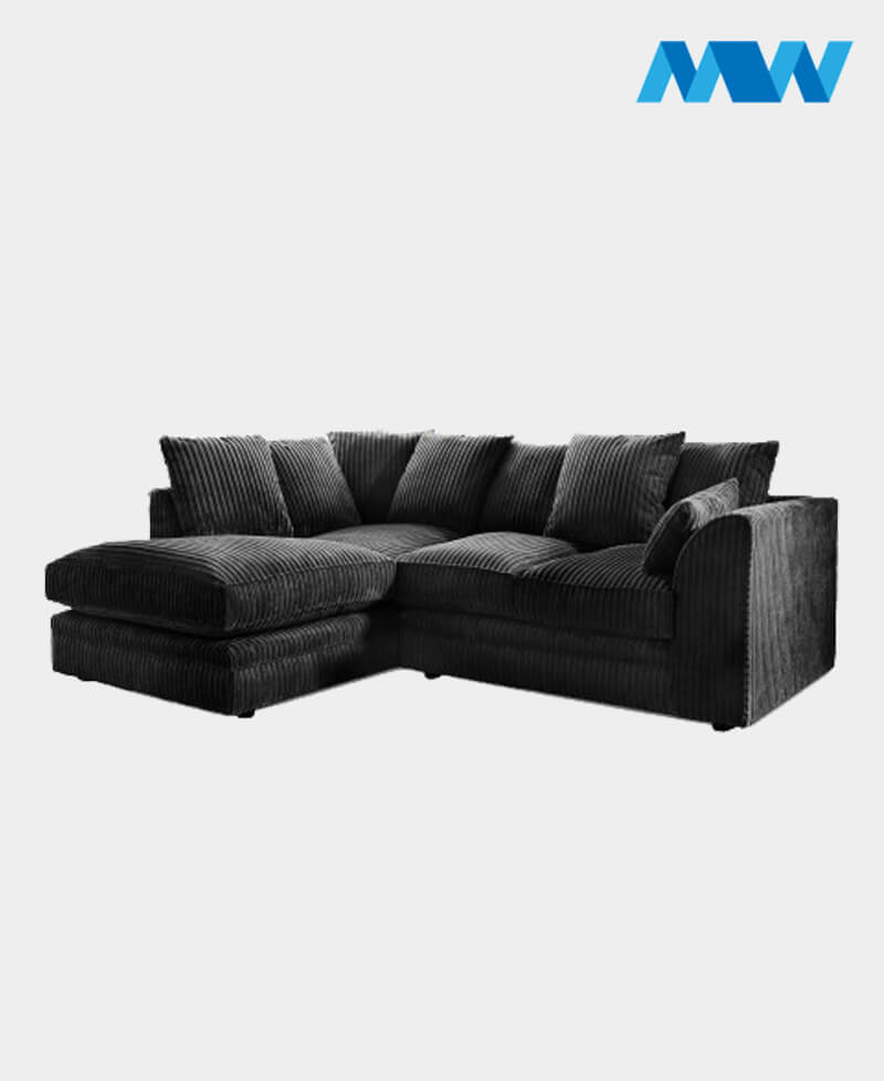 chicago sofa set 005 blackf Lh Coner