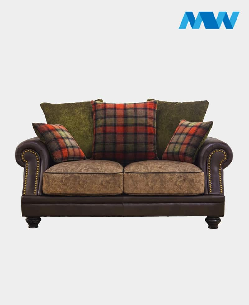 Charlotte 2 Seater Fabric Sofa brown