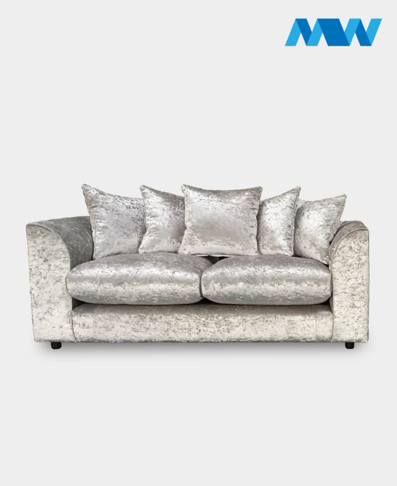 Diana 2 Seater Crushed Velvet Sofa 3 seater black