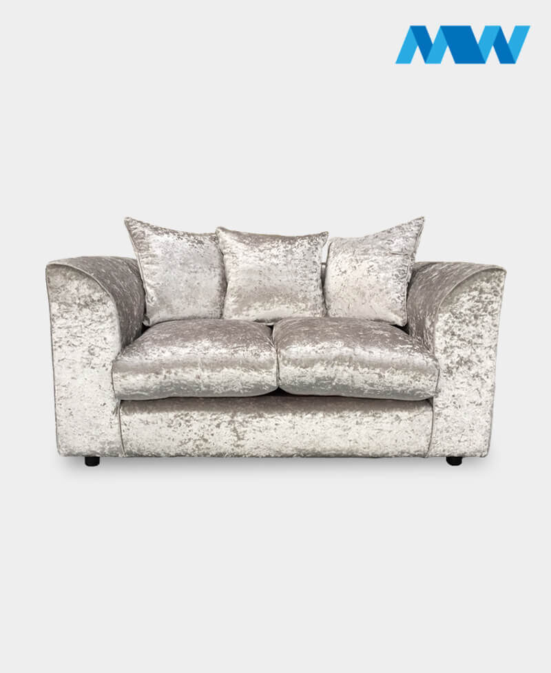 dianna crushed velvet sofa ice