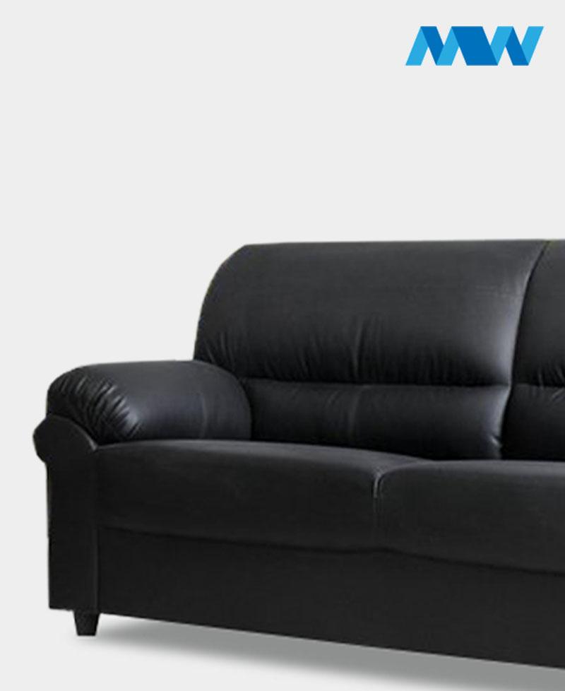 Maxi 3 Seater Sofa Black
