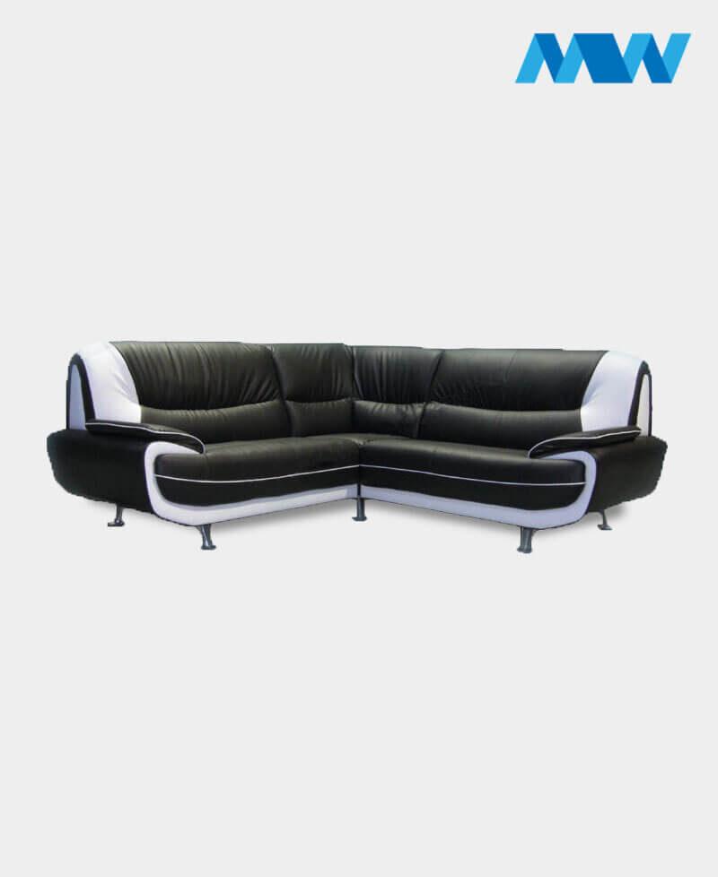 Palmero Corner Sofa black and white