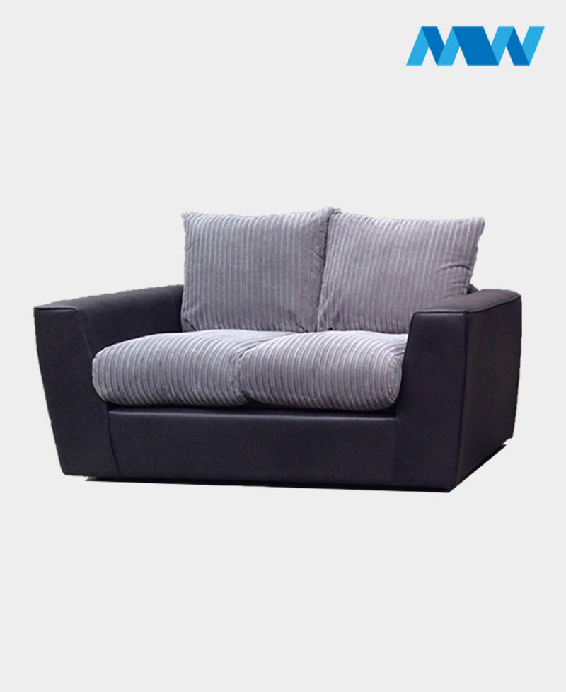 New Sam 2 Seater Sofa black and grey