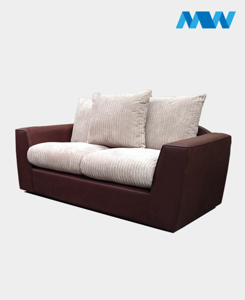 new sam 3 seater sofa brown and beige