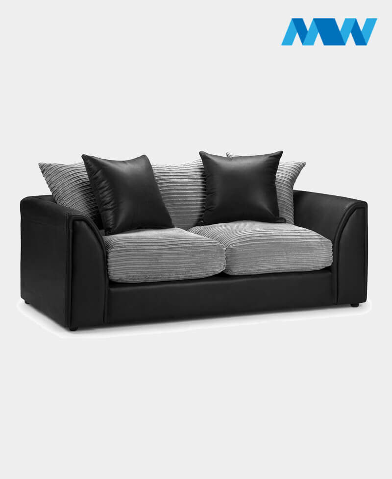 Byron 3 Seater Sofa black and grey