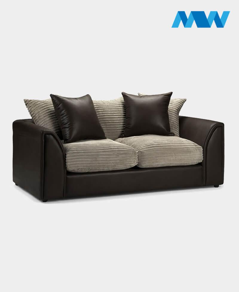 Byron 3 Seater Sofa brown and oak