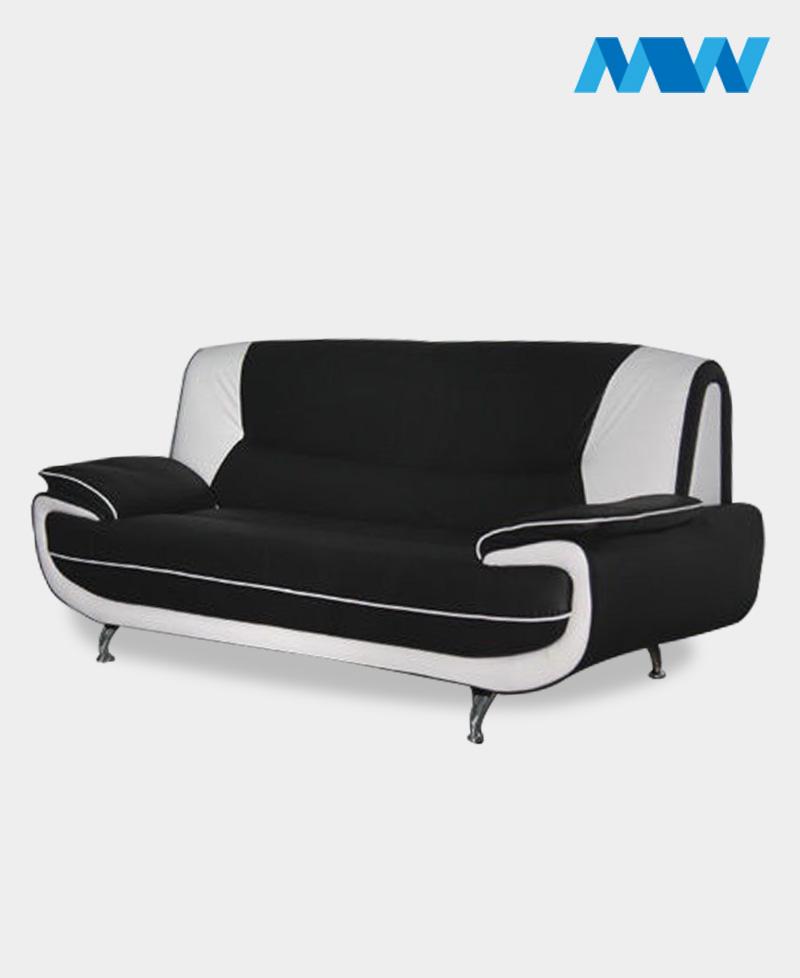 Palmero 2 Seater Sofa black and white