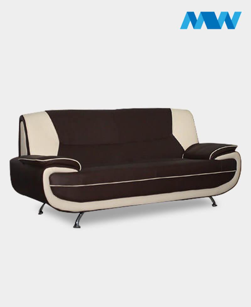 palmerosofa brown and cream 2 seater