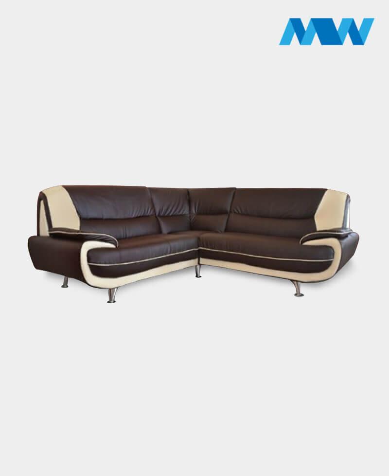 Palmero Corner Sofa brown and cream