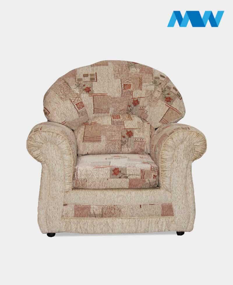 Roma Fabric Sofa Chair Beige