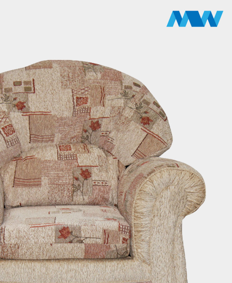 Roma Fabric Sofa Chair Beige