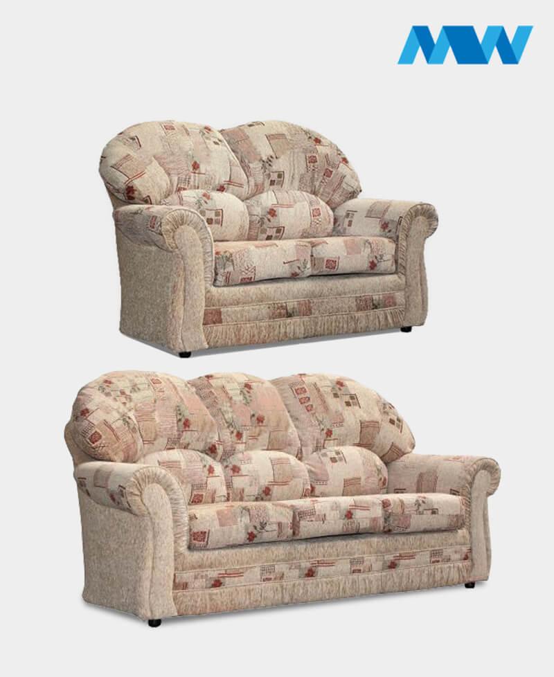 Roma 2+3 Sofa Set biege fabric