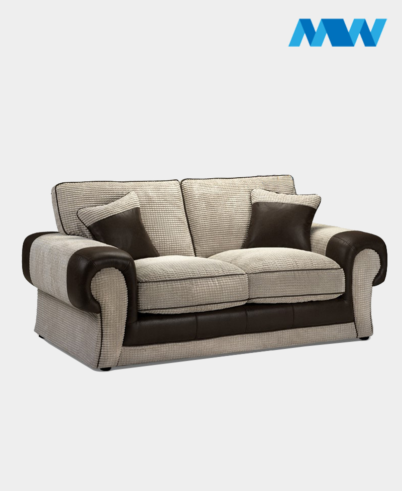 Tangent 3 Seater Fabric Sofa brown and cream