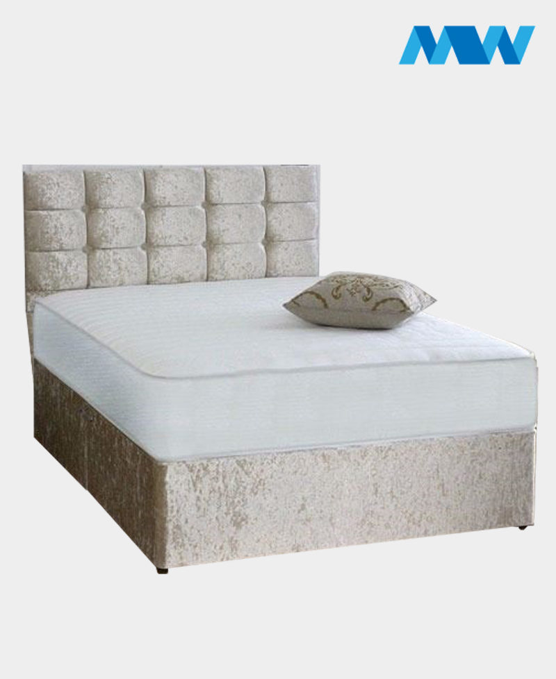 Crushed Velvet Divan Bed With Drawers 2