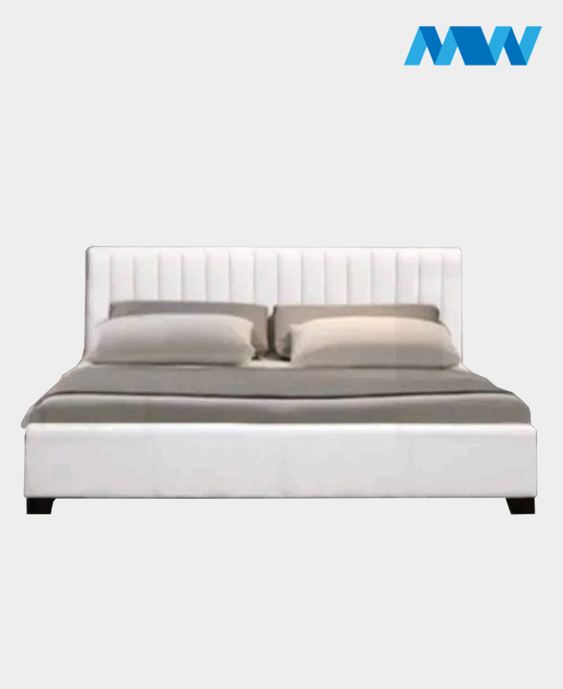 Prado Designer Leather Bed white