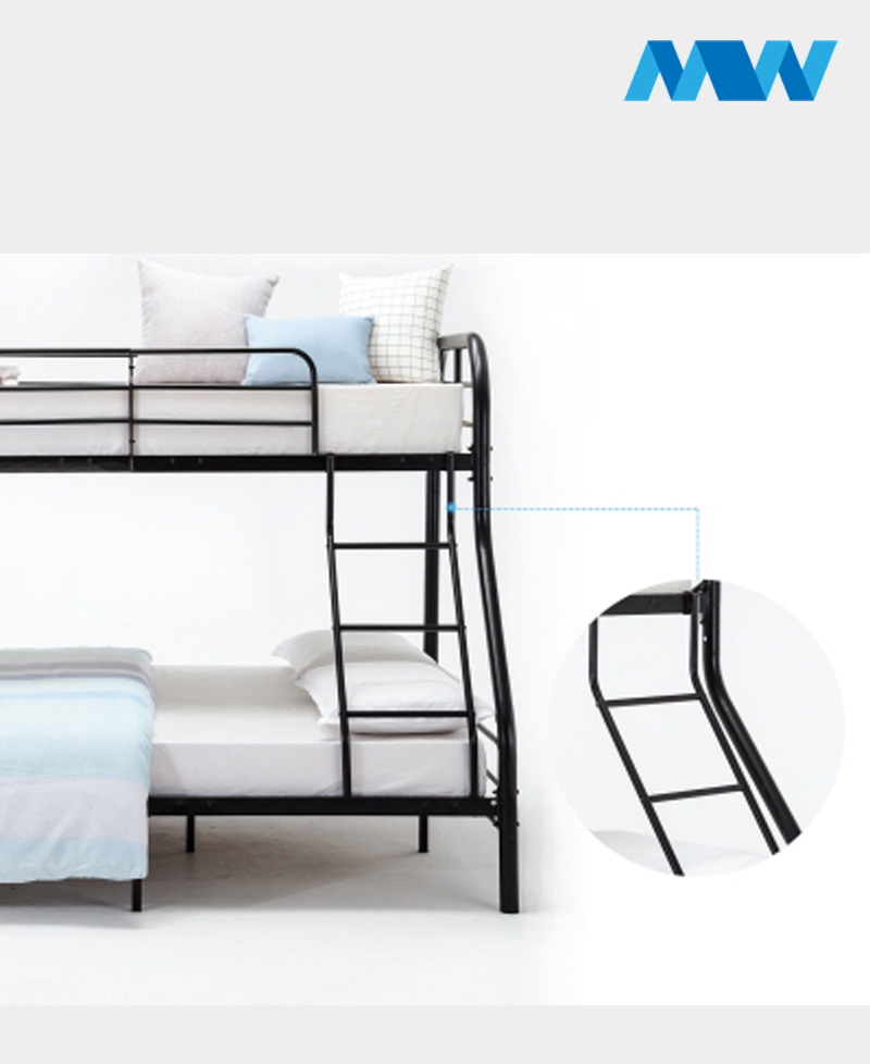 Twin Over Full Bunk Beds Black