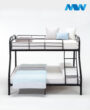 Twin Over Full Bunk Beds Black 1