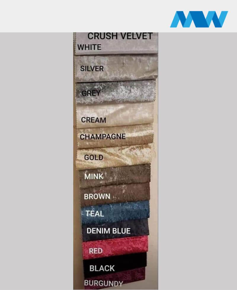 crushed velvet color palette