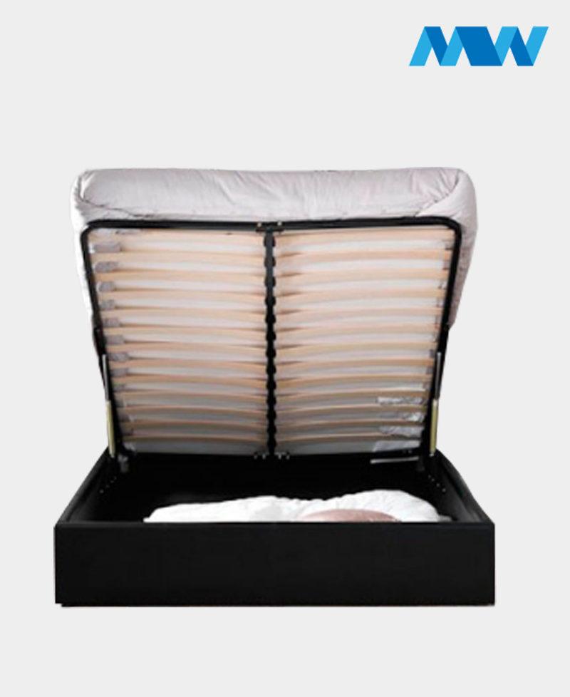 Denam Gaslift Ottoman Storage Bed liftup frame with mattress