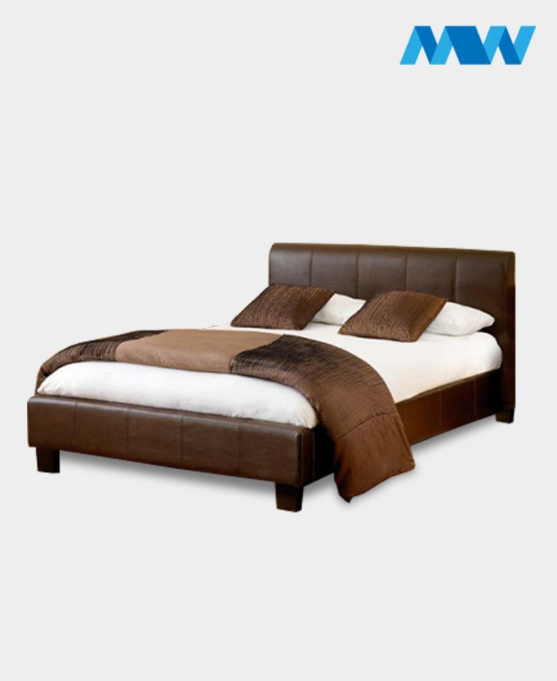 Denam Gaslift Ottoman Storage Bed Brown