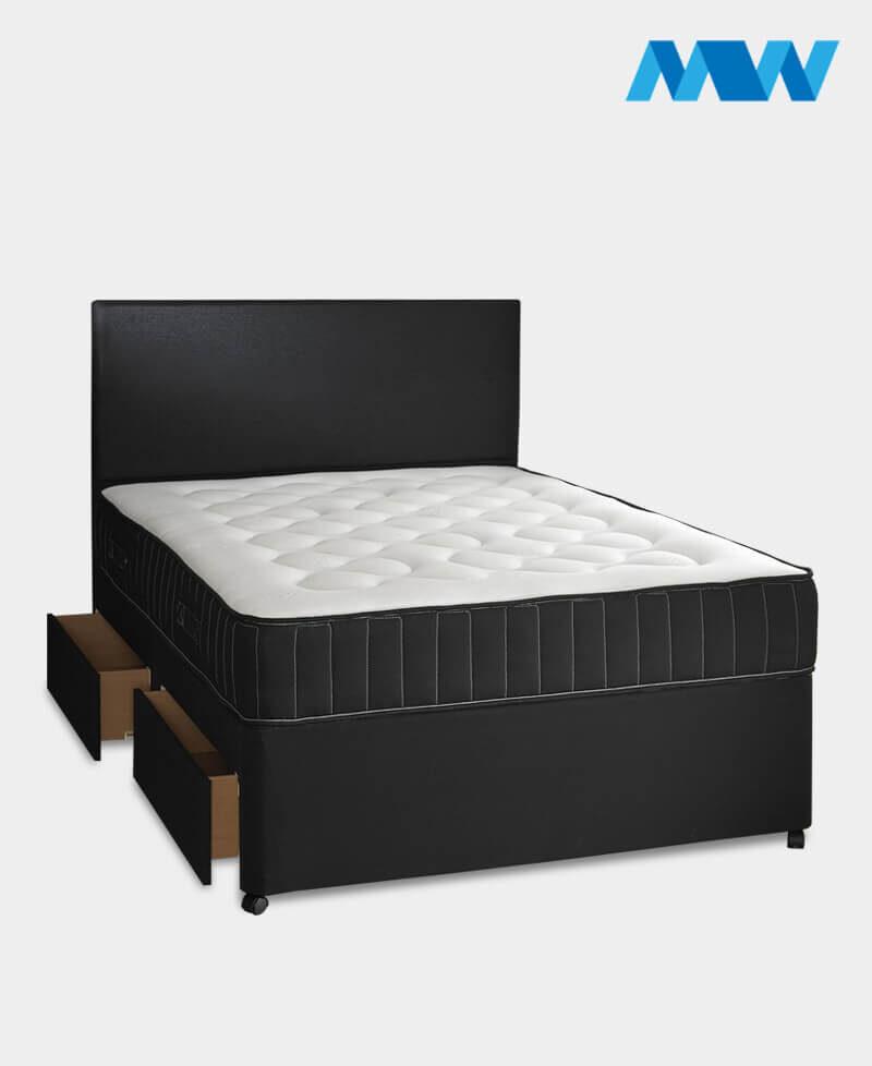 Divan Bed with Storage Space Black