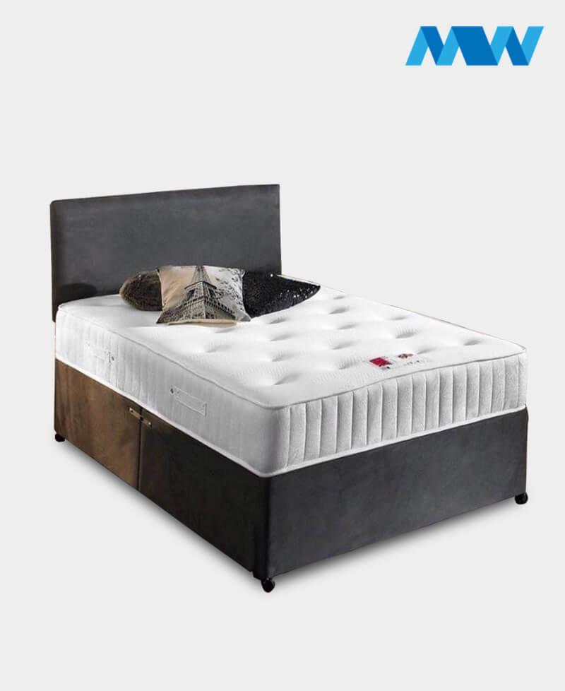 Divan Bed with Storage Space Grey