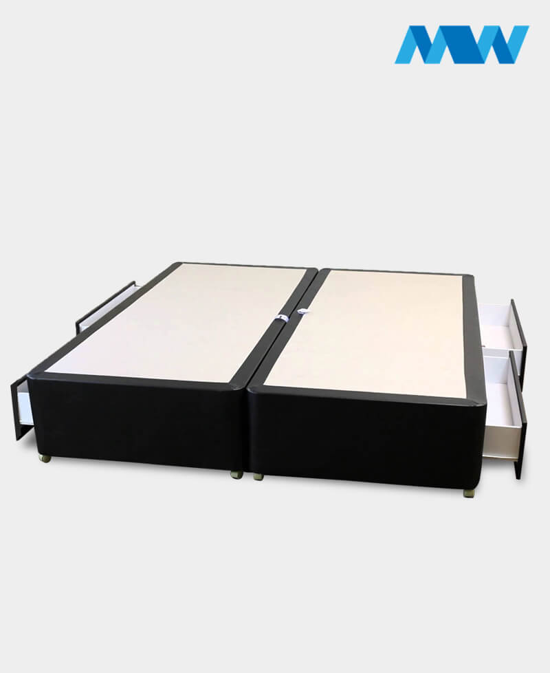 Divan Bed base black with drawers